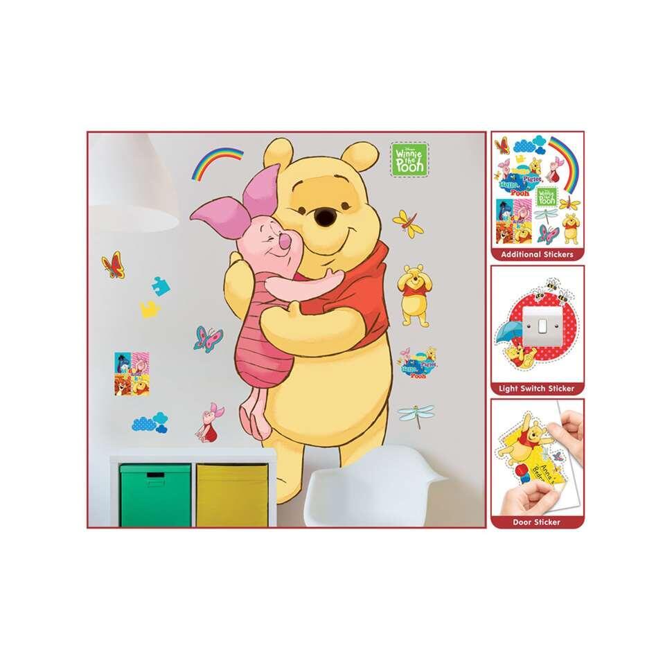 Muurstickers Winnie The Pooh Zwart Wit.Walltastic Muursticker Winnie De Poeh 122 Cm