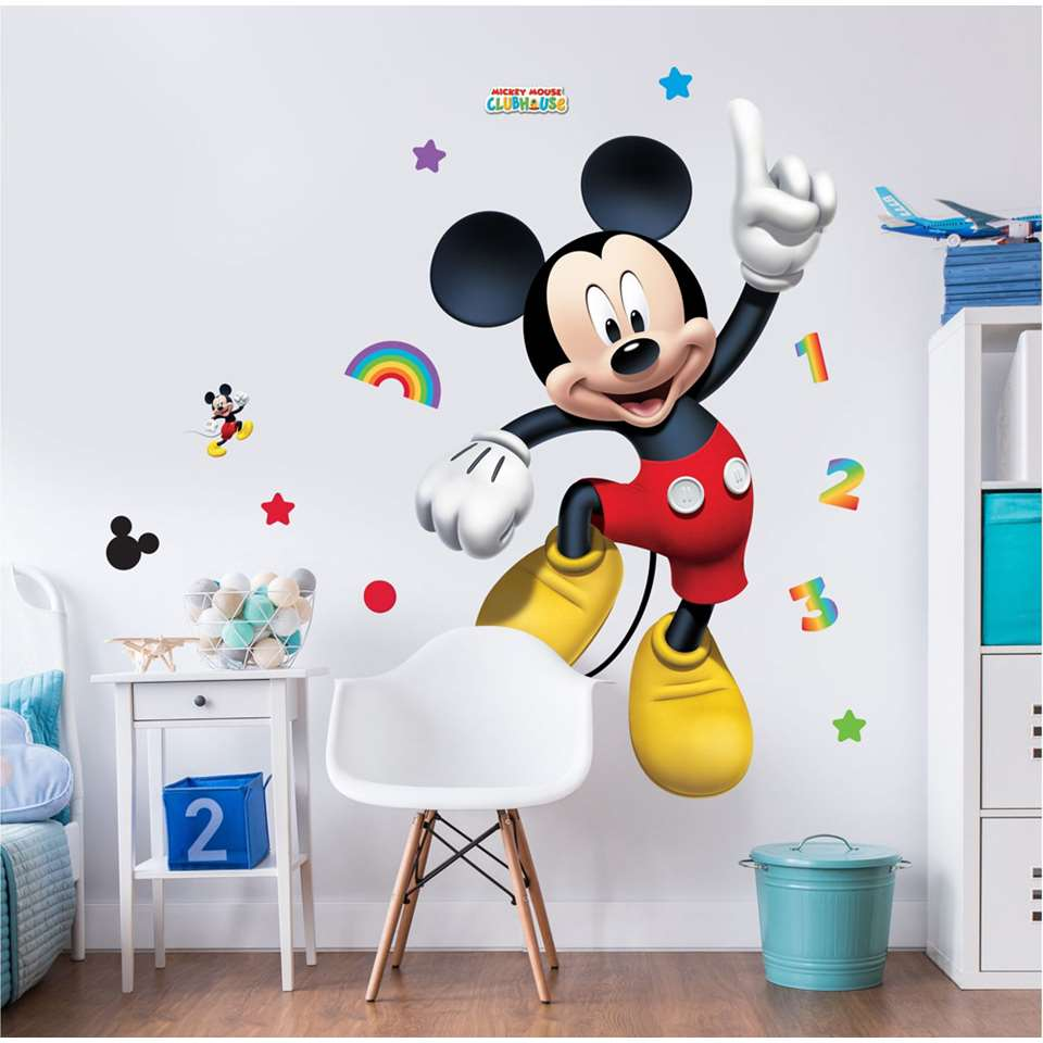 Mickey Mouse Muursticker.Walltastic Muursticker Mickey Mouse 122 Cm