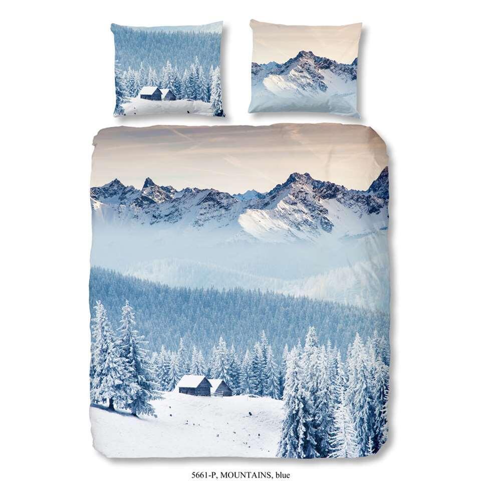 Good Morning dekbedovertrek Mountains - blauw - 140x200/220 cm