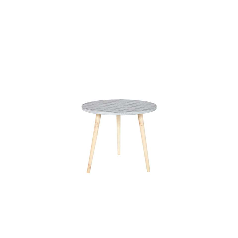 Woood table d'appoint Denn - grise - 43x50x50 cm