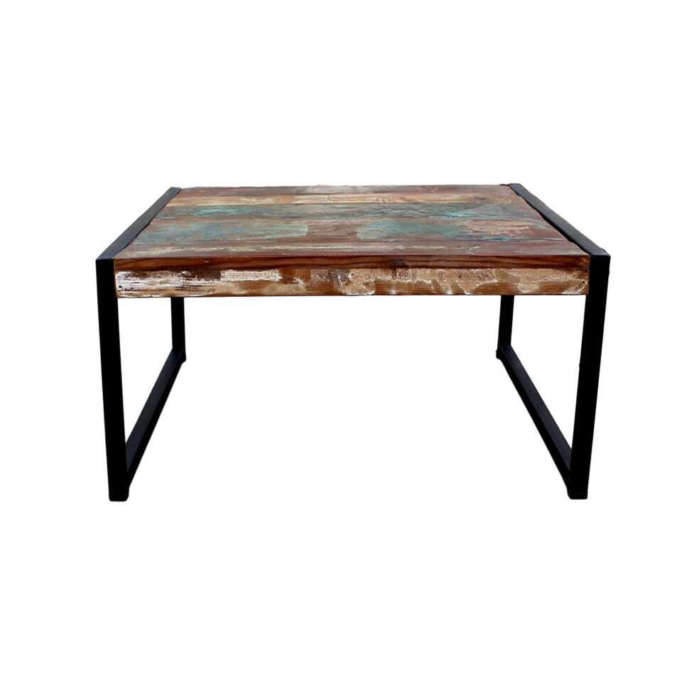 Table de salon Lucas - multicolore - 35x70x70 cm