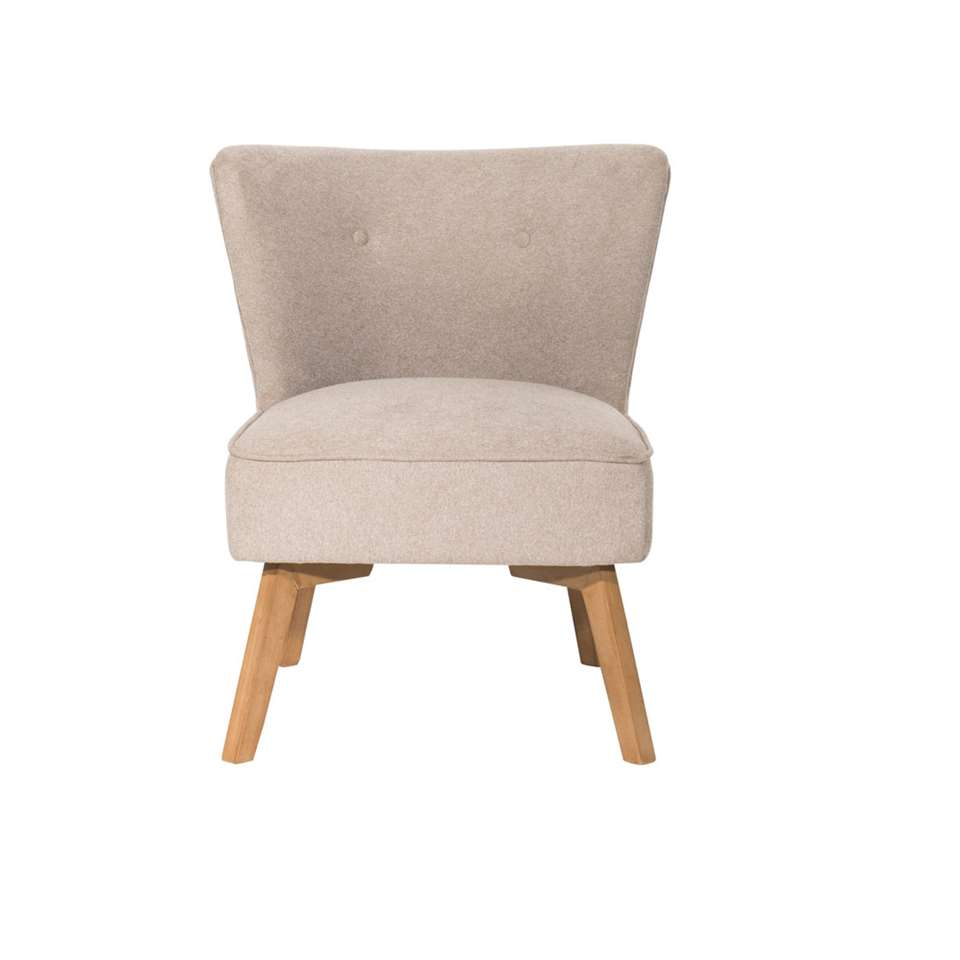 Fauteuil Nyrup - stof - beige