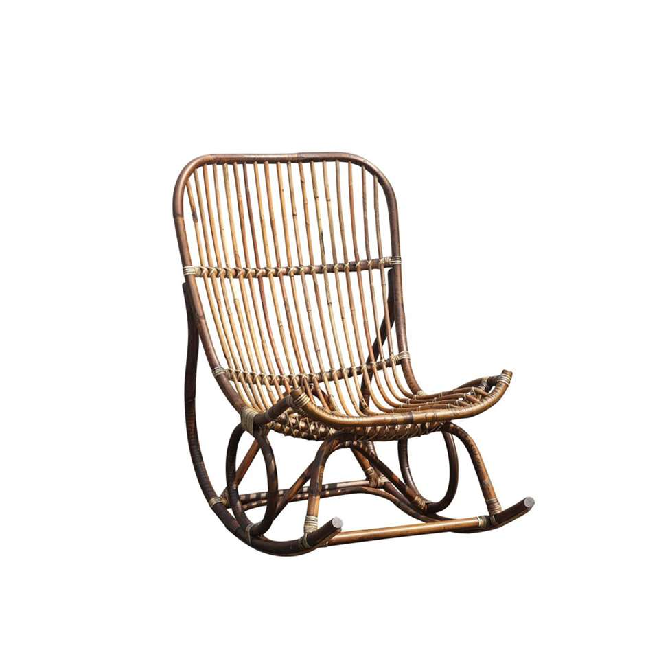 chaise bascule kim rotin brune. Black Bedroom Furniture Sets. Home Design Ideas