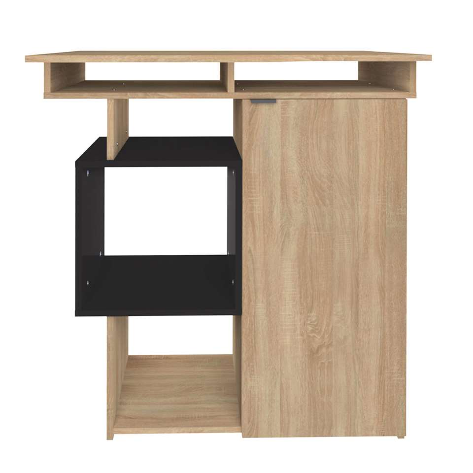 Symbiosis table de bar Kube chêne - naturel/noir - 101,1x89,5x67 cm