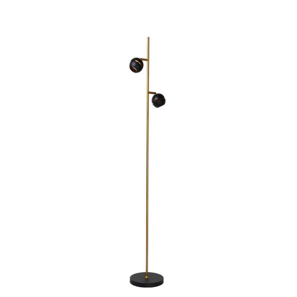 Deze vloerlamp is mooi en erg handig. De staande lamp met twee lichtpunten is een echte eyecatcher in uw interieur. Deze vloerlamp voelt zich vooral goed thuis in een moderne setting.