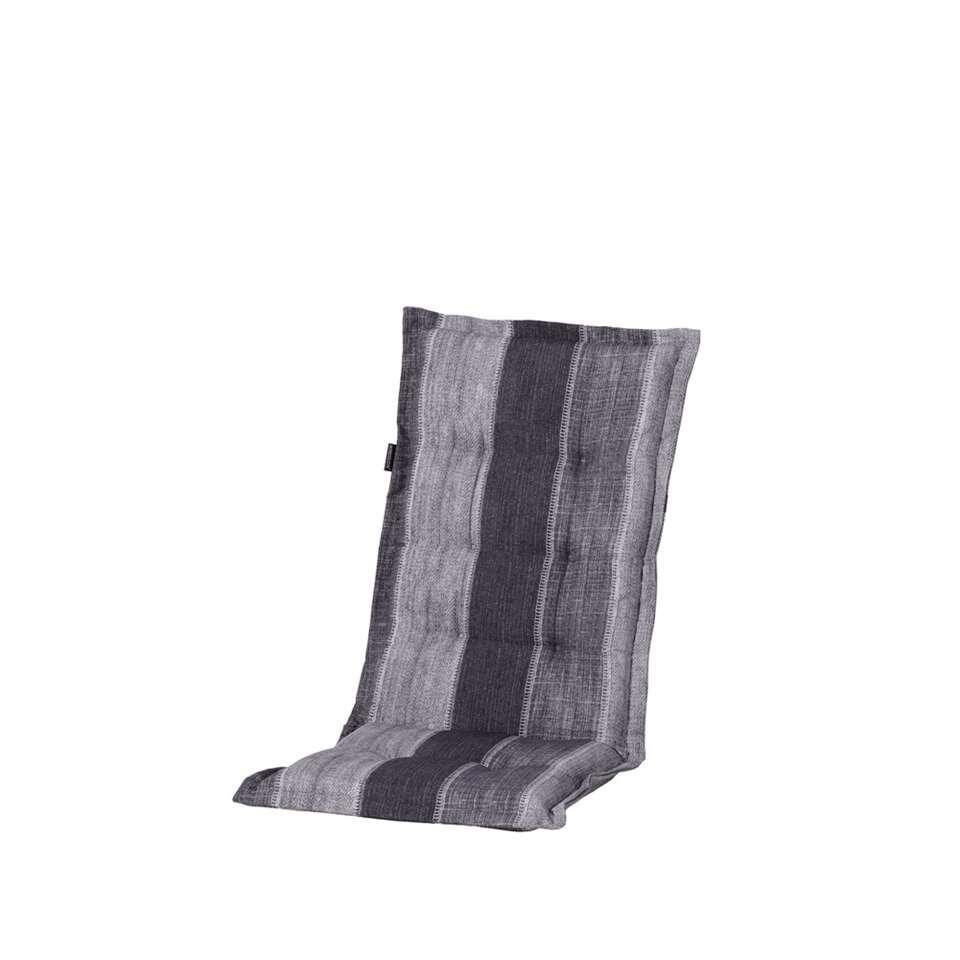 Madison terrasstoelkussen Denim Stripe - 123x50 cm - Leen Bakker