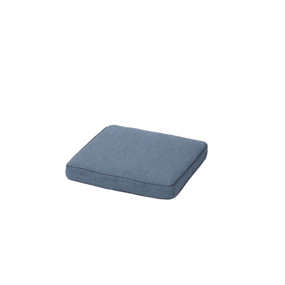 Madison loungekussen Melange waterproof - ice blue - 60x60 cm - Leen Bakker