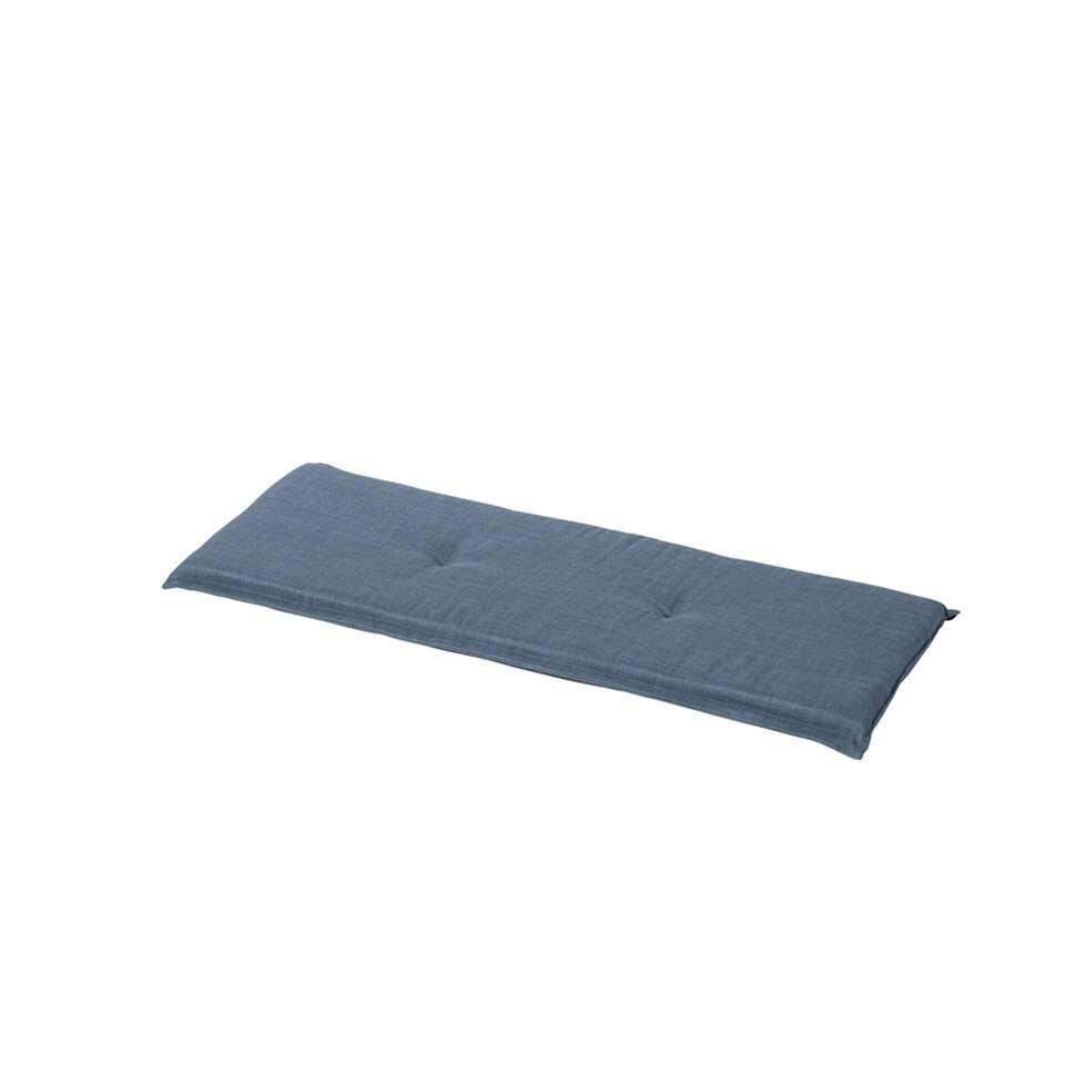 Madison tuinbankkussen Melange waterproof - ijsblauw - 120x48 cm - Leen Bakker