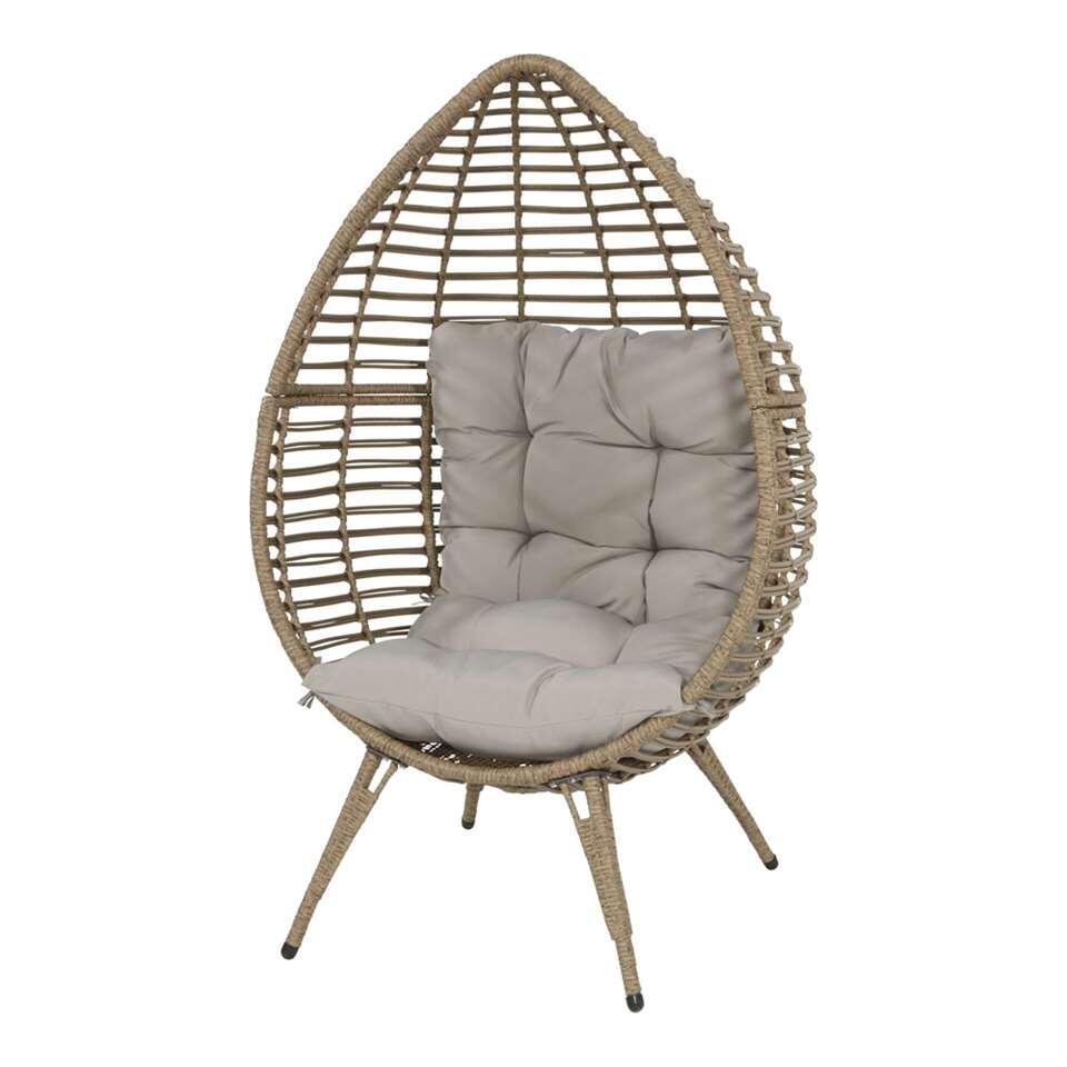 Relaxstoel Chill - beige - 156x91x99 cm - Leen Bakker