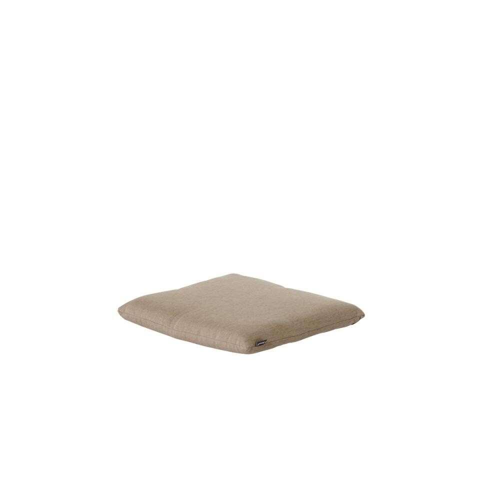 Hartman vouwstoelkussen Havana Jute - beige - 41x38x4 cm - Leen Bakker