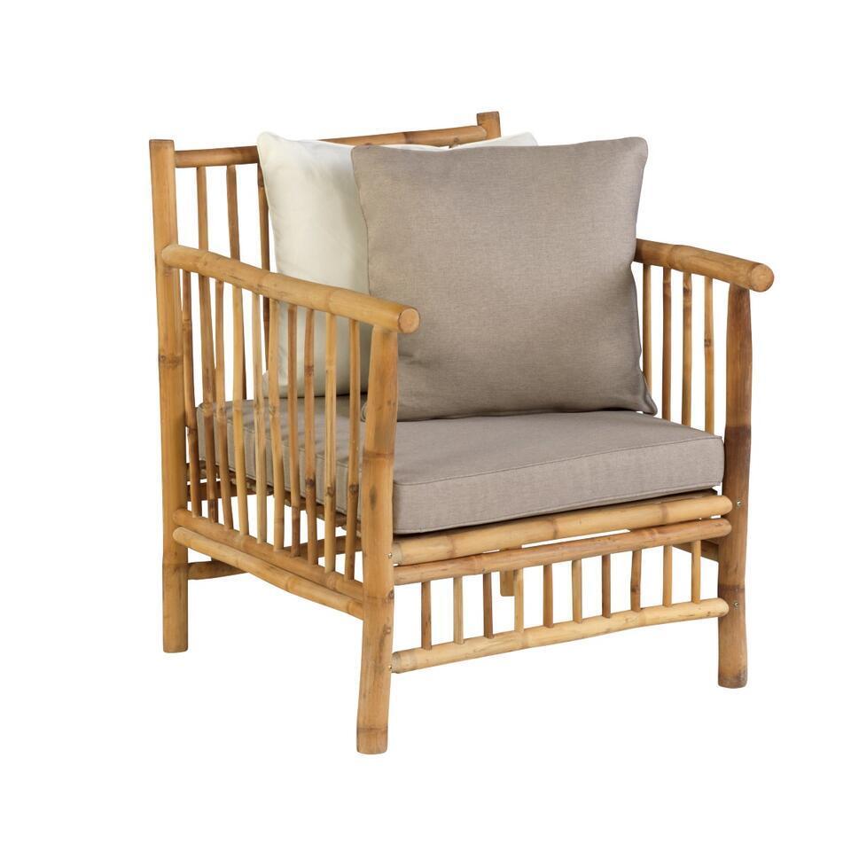 Exotan Bamboe stoel - bruin - 70x81x88 cm - Leen Bakker