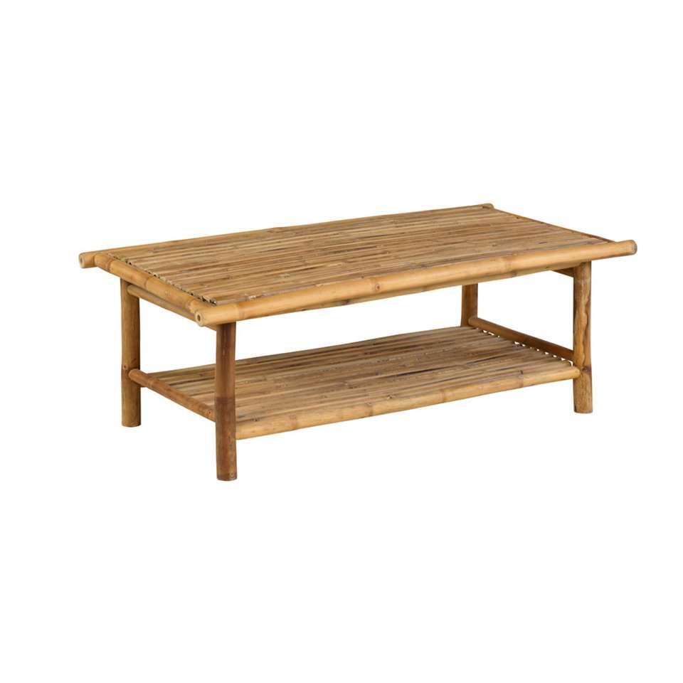 Exotan Bamboe tafel - bruin - 116x62x41 cm - Leen Bakker