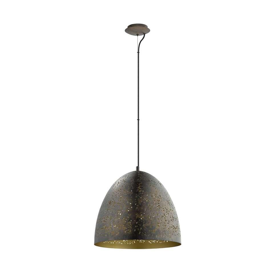 EGLO hanglamp Safi - bruin/goud - 40 cm