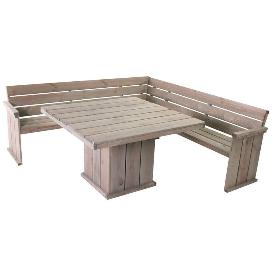 SenS-Line tafel Keulen - grijs - 118x118 cm - Leen Bakker