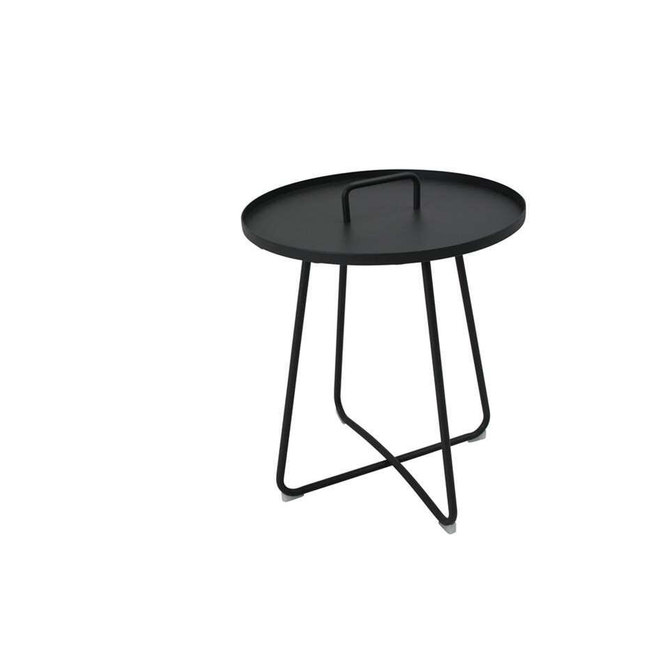 SenS-Line serveertafel Jennifer - antraciet - Ø50x56cm - Leen Bakker
