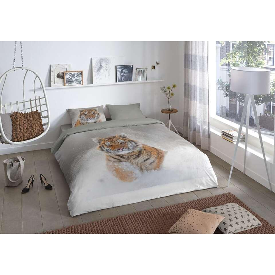 Good morning dekbedovertrek Snow tiger - veelkleurig - 200x200/220 cm