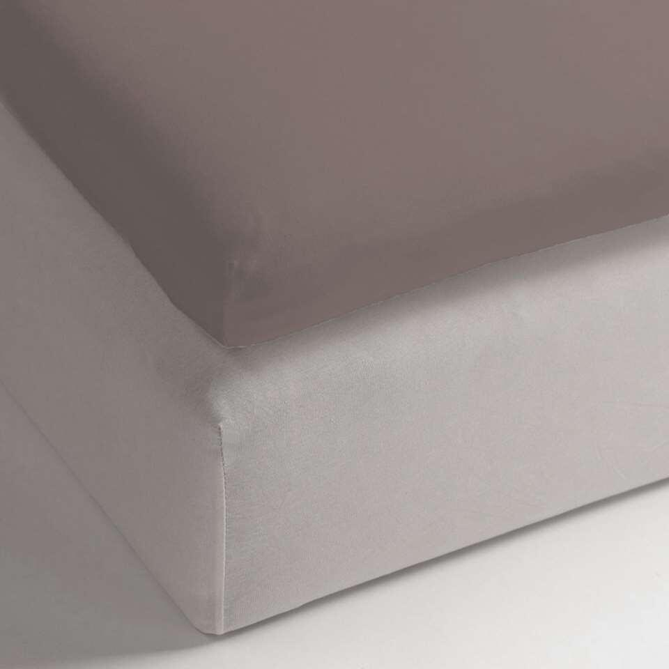 Drap-housse Heckett & Lane topper Taupe - taupe - 80/90x200 cm