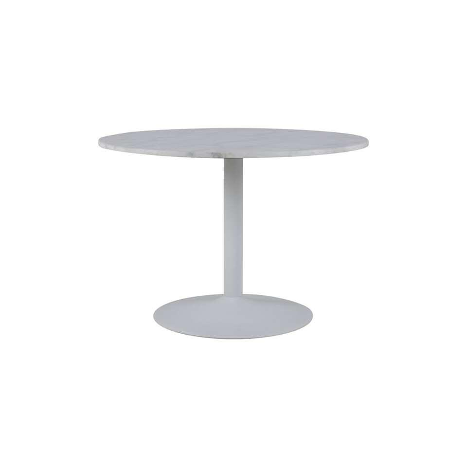 Marmer Tafelblad Rond.Eetkamertafel Eleja Marmer Guangxi Rond Wit O80x45 Cm