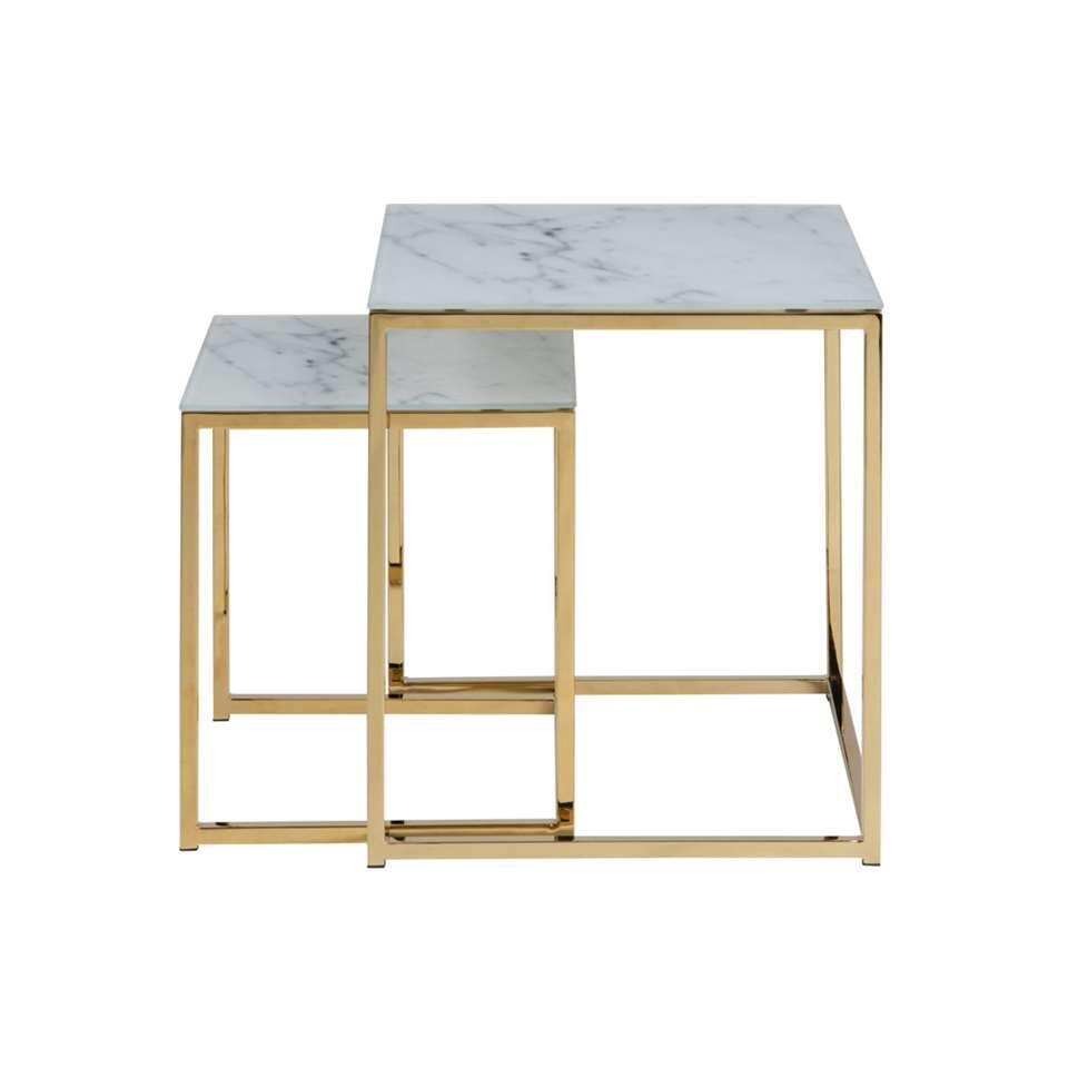 Table d'appoint Ostana - blanche (le lot de 2)