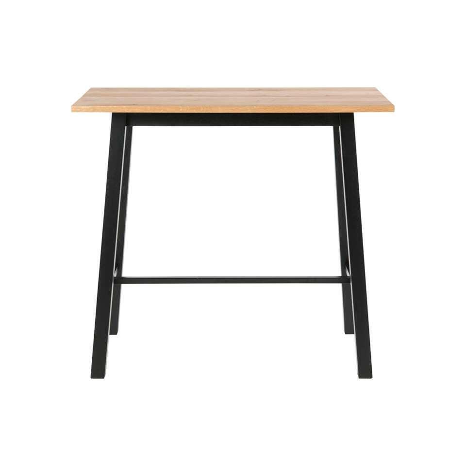 Bartafel Liden - eikenkleurig/zwart - 105x58x117 cm