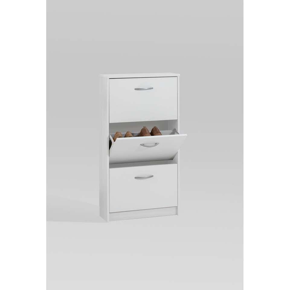 Armoire à chaussures Step - blanche - 58,5x104,5x17 cm
