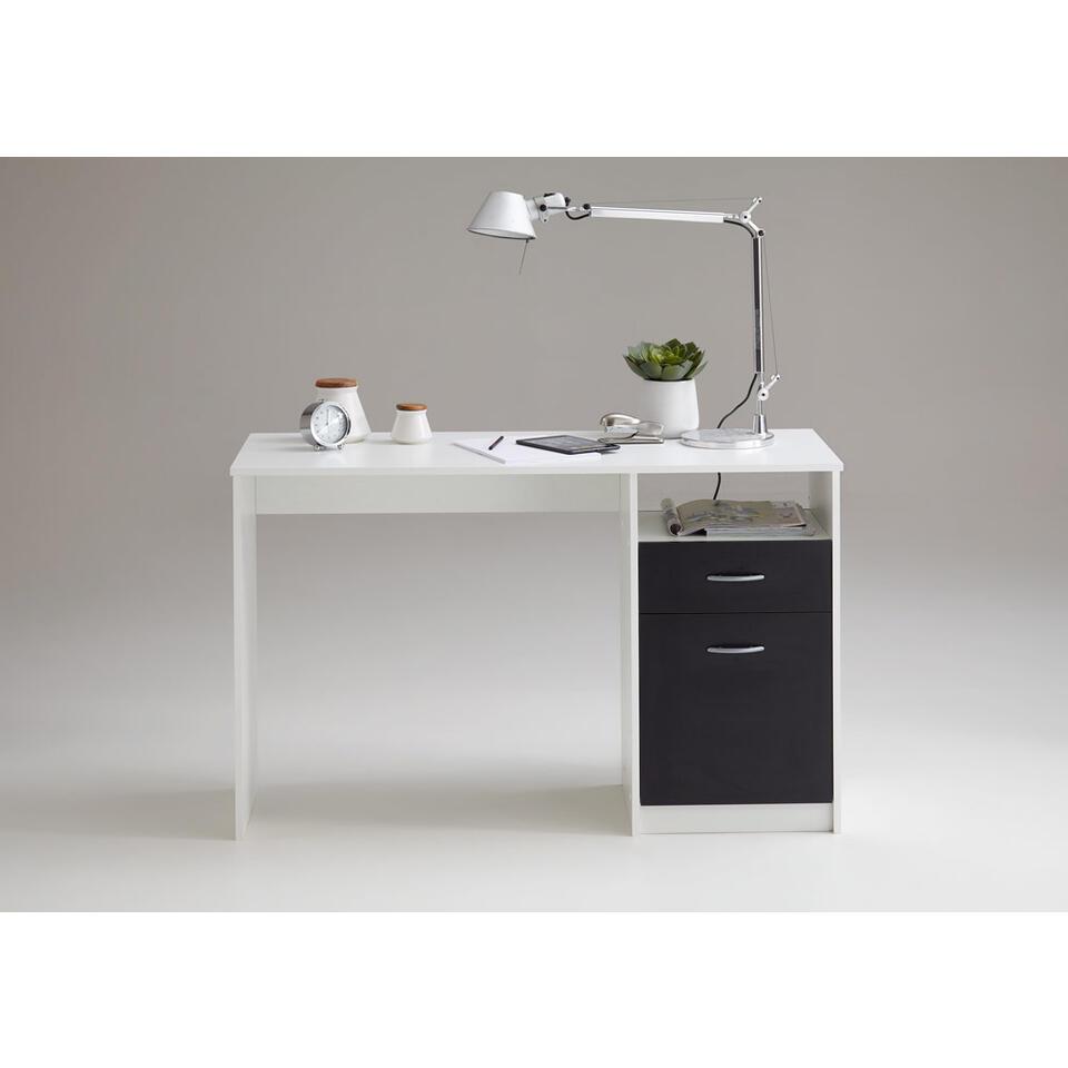 Bureau Noir Et Blanc bureau jackson - noir/blanc - 123x76 cm