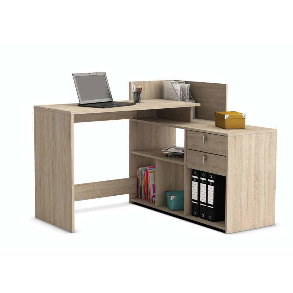demeyere bureau vista couleur ch ne clair 90 1x121x107 6 cm. Black Bedroom Furniture Sets. Home Design Ideas