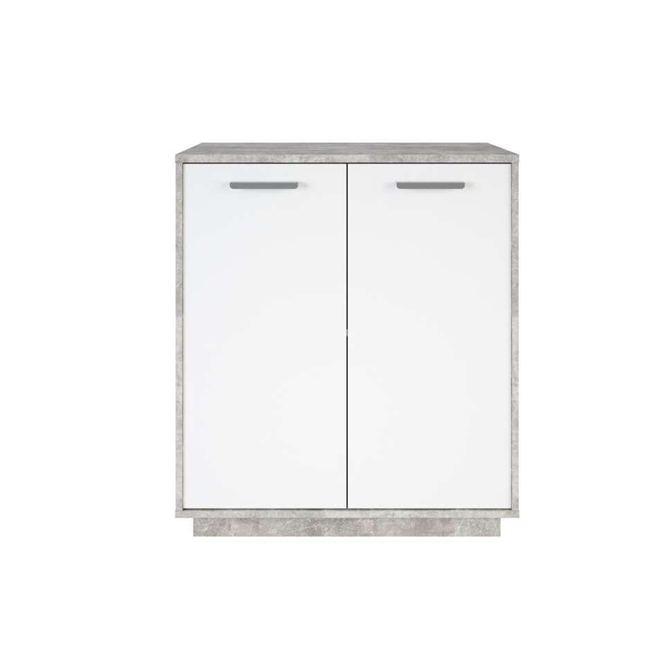 Demeyere kast Leo - betongrijs/wit - 86,1x76x36,8 cm