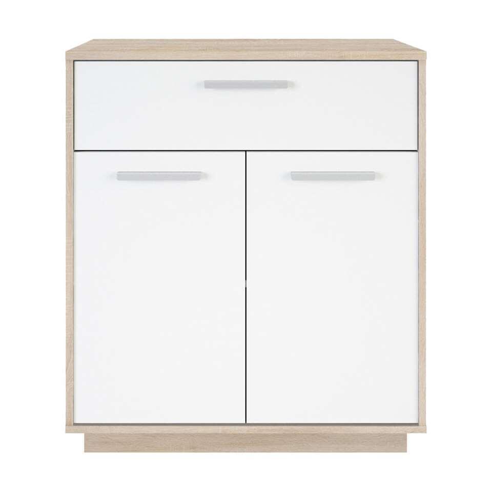 Demeyere rangement Leo 1 tiroir - couleur chêne clair/blanc - 86,1x76x36,8 cm
