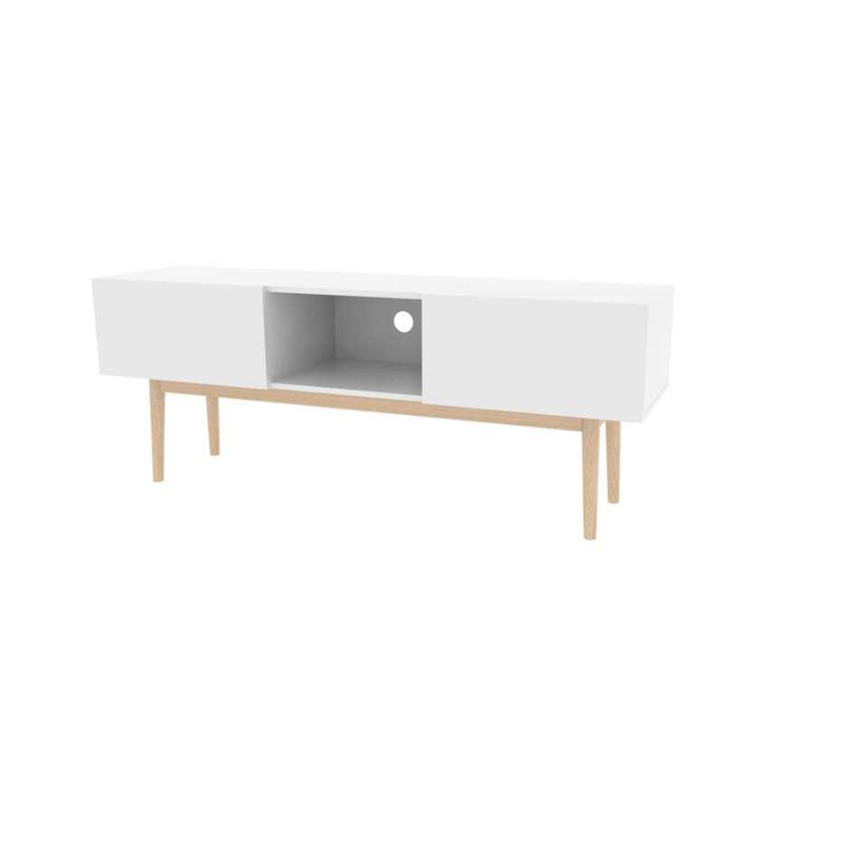 Tv-meubel Langesund - wit - 58x150x40 cm