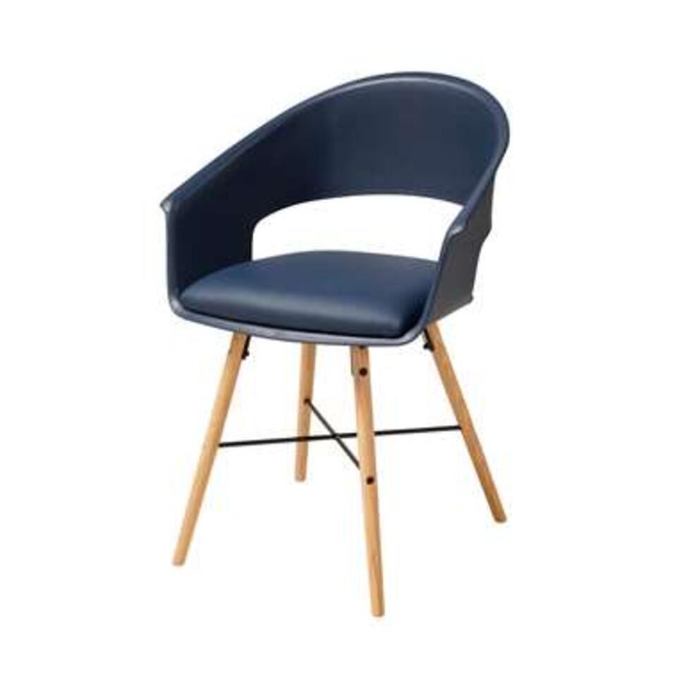 Chaises de salle à manger Sortland - plastique - bleu (4 pièces)