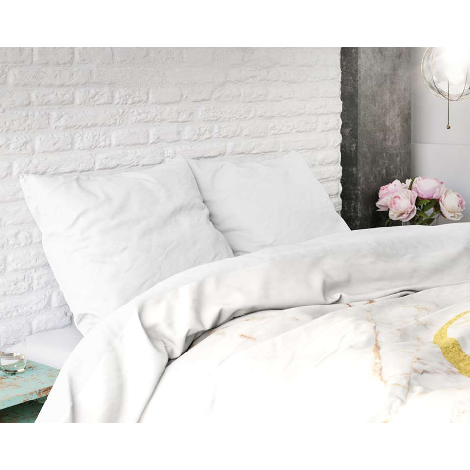 housse de couette sleeptime marble goodnight or 240x220 cm. Black Bedroom Furniture Sets. Home Design Ideas