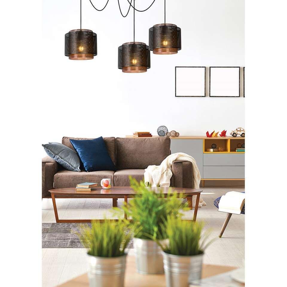 Lucide hanglamp Orrin - zwart - 25 cm