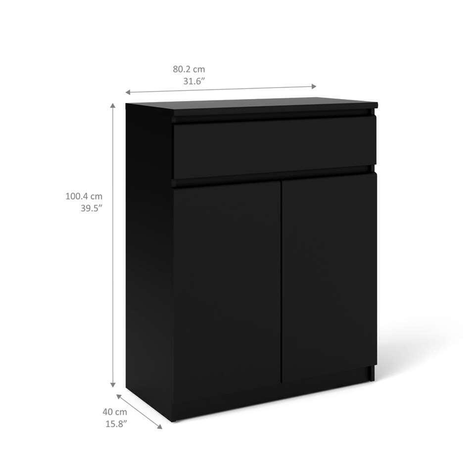Dressoir Naia 3 cases - noir terne