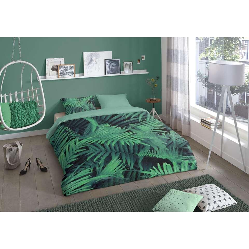 Good Morning dekbedovertrek Ferns - groen - 140x200/220 cm