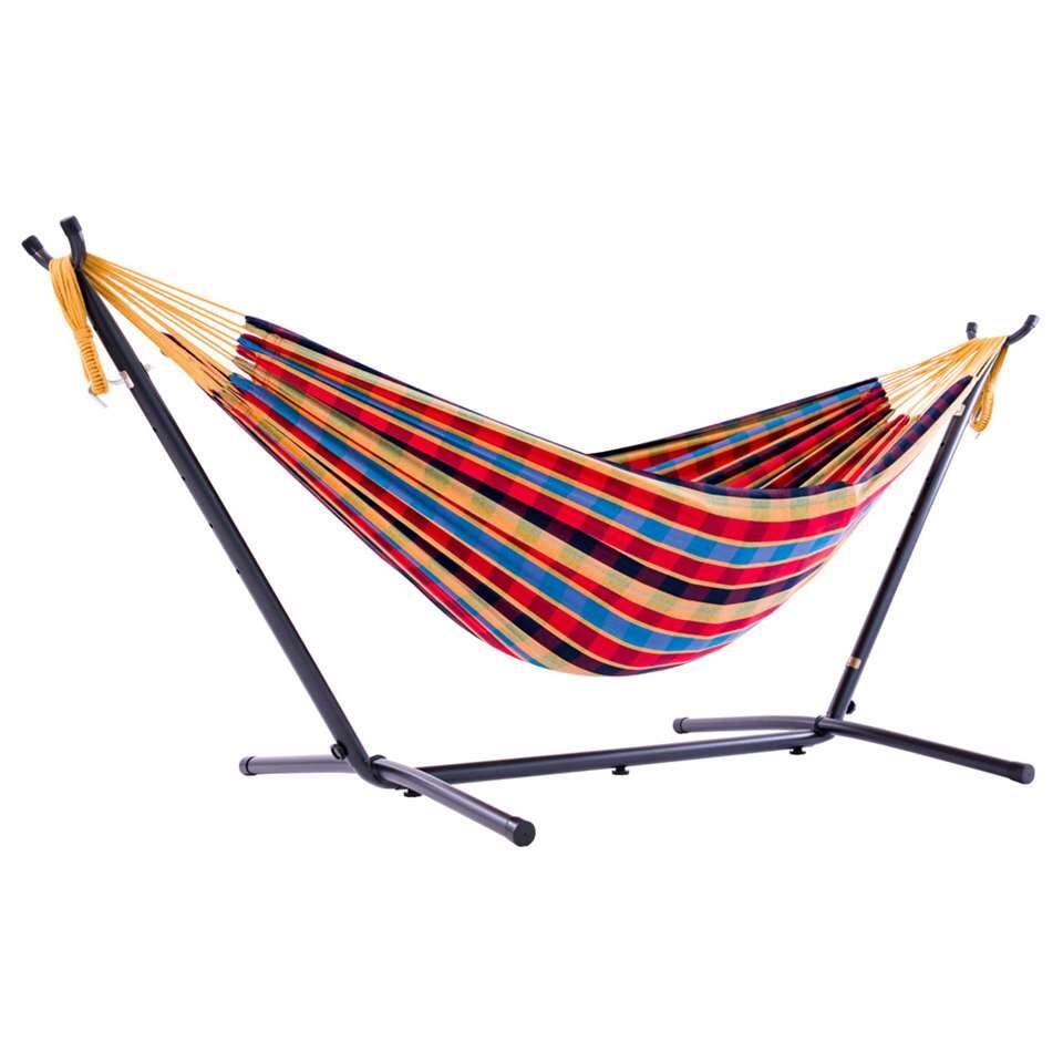 Hangmat Met Stevig Frame.Vivere Hangmat Combo Incl Metaalstandaard 2 Persoons Paradise