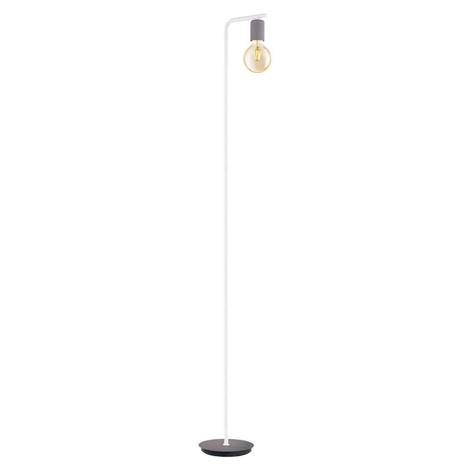 EGLO vloerlamp Adri-p is een moderne en minimalistische lamp gemaakt van staal. De lamp is afgewerkt in de kleuren pastel-grijs en wit.