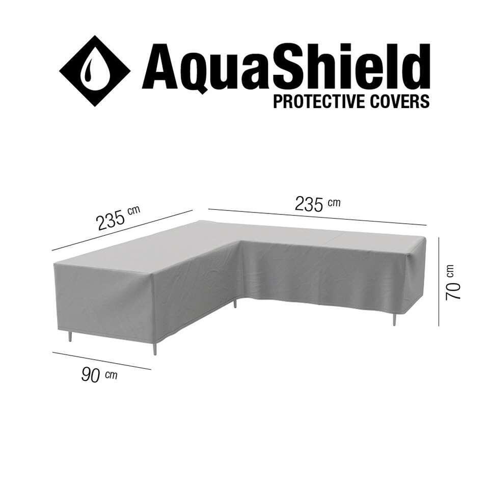 AquaShield loungesethoes L-vorm - 235x235x90x70 cm - Leen Bakker
