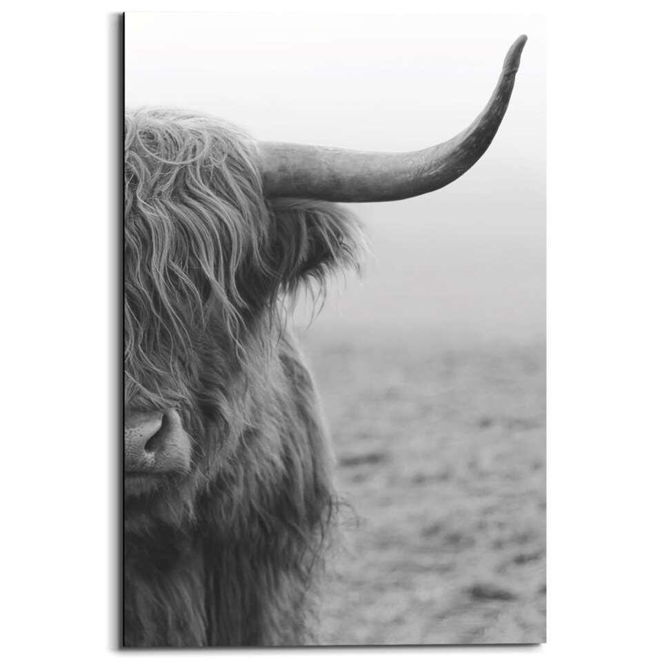 Panneau décoratif Highland - noir/blanc - 60x90 cm