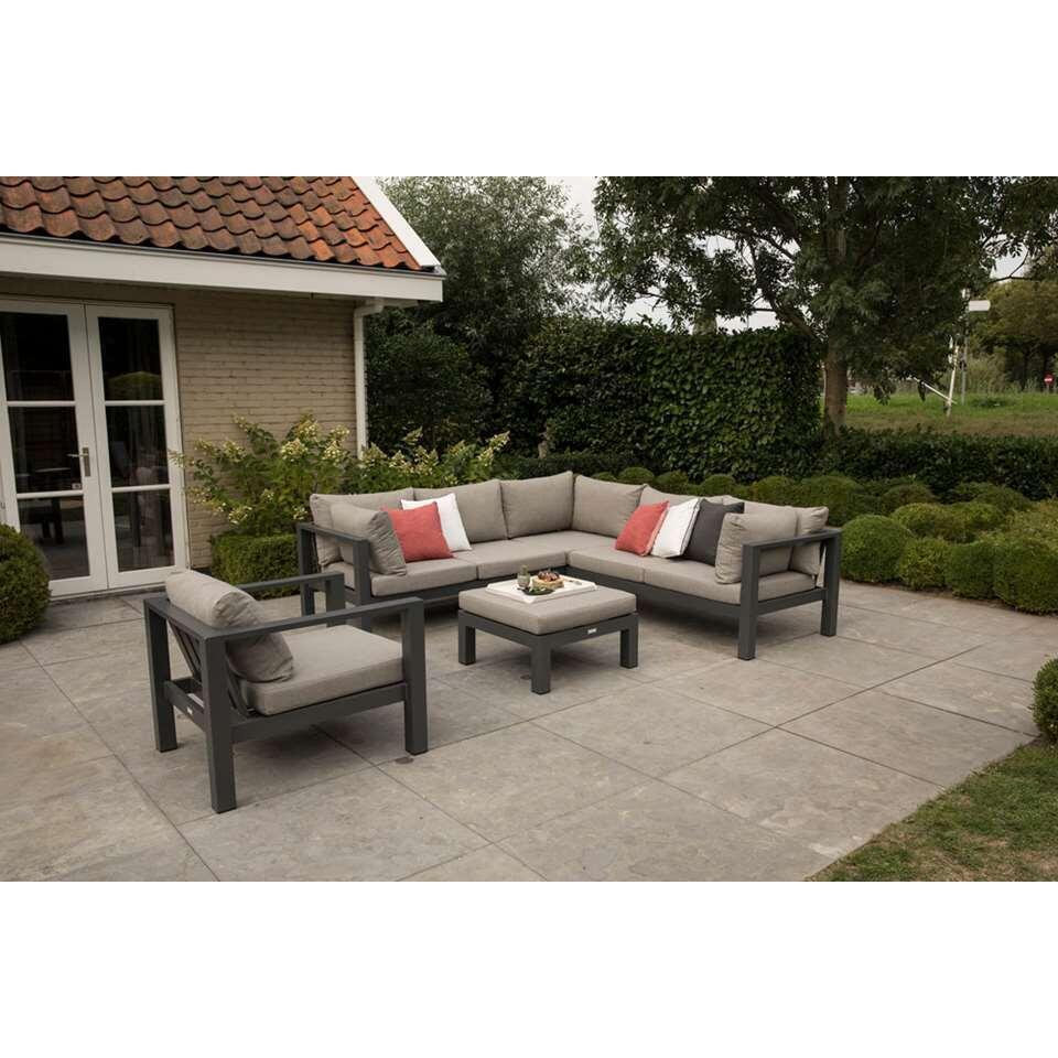 Exotan loungestoel Cannes (incl. kussens) - antraciet - 77,5x90x66 cm - Leen Bakker