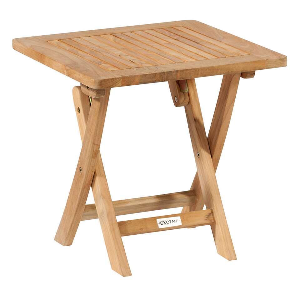 Exotan klaptafel - teakhout - 45x45x45 cm - Leen Bakker