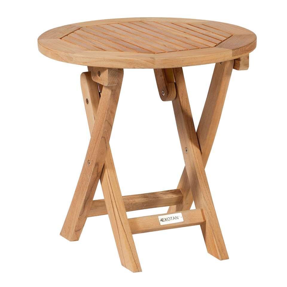 Exotan Cm Teck Ronde Ø45x45 Table Pliable MUpSzqV