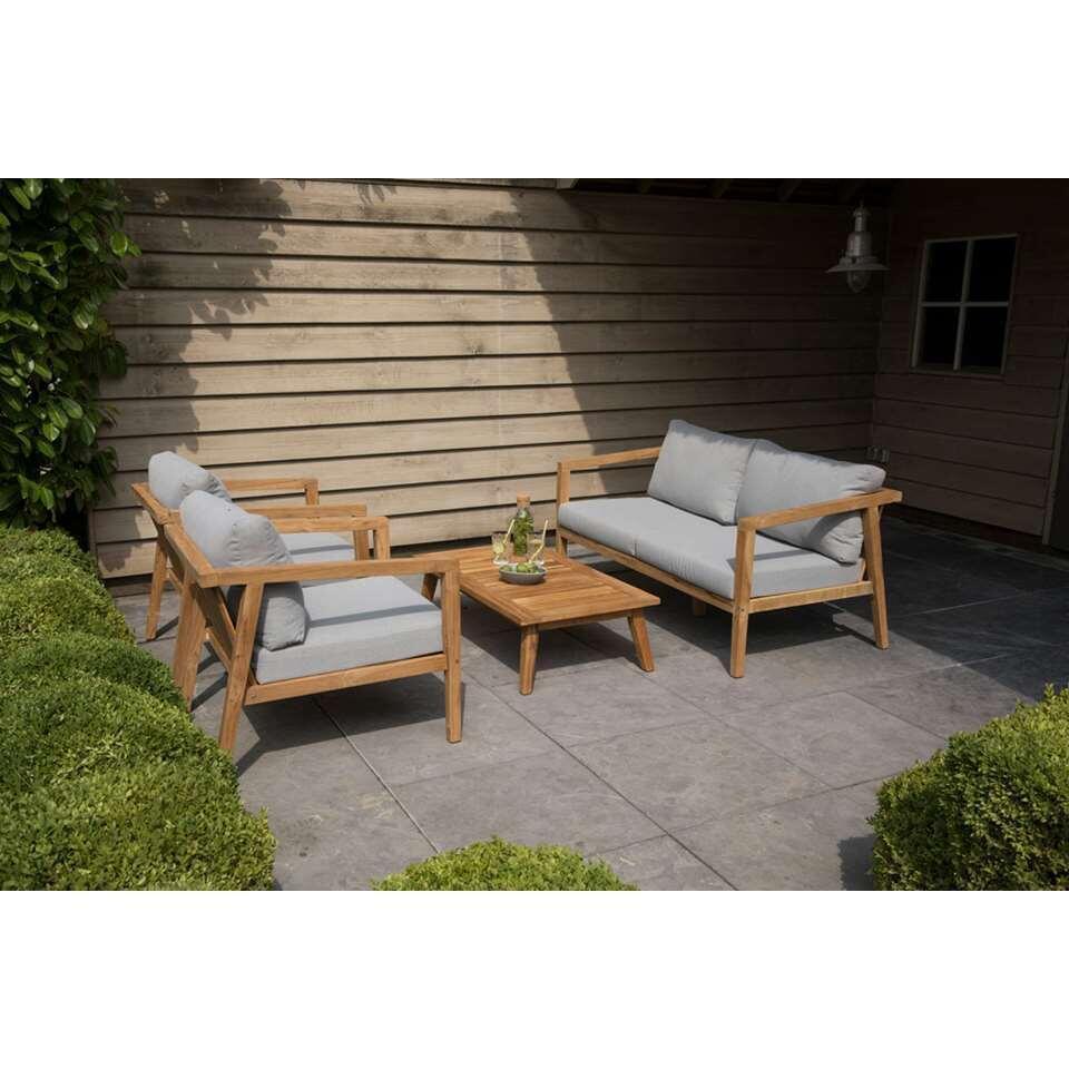 Exotan loungeset Lucca - bruin/grijs - Leen Bakker