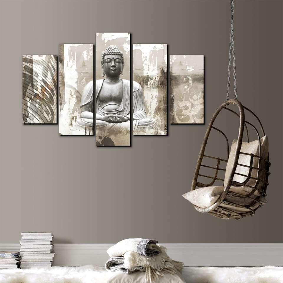 Art for the Home tableaux Bouddha - beige - 150x100 cm