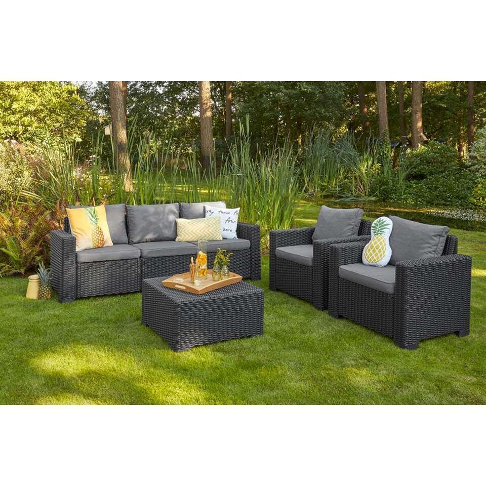 Allibert loungehocker California - grijs - 68x68x35 cm - Leen Bakker