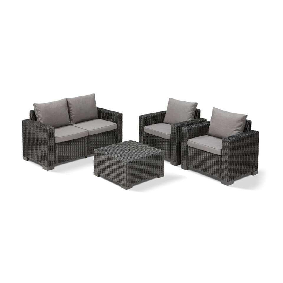 Allibert loungezetel California - grijs - 141x68x71,5 cm - Leen Bakker