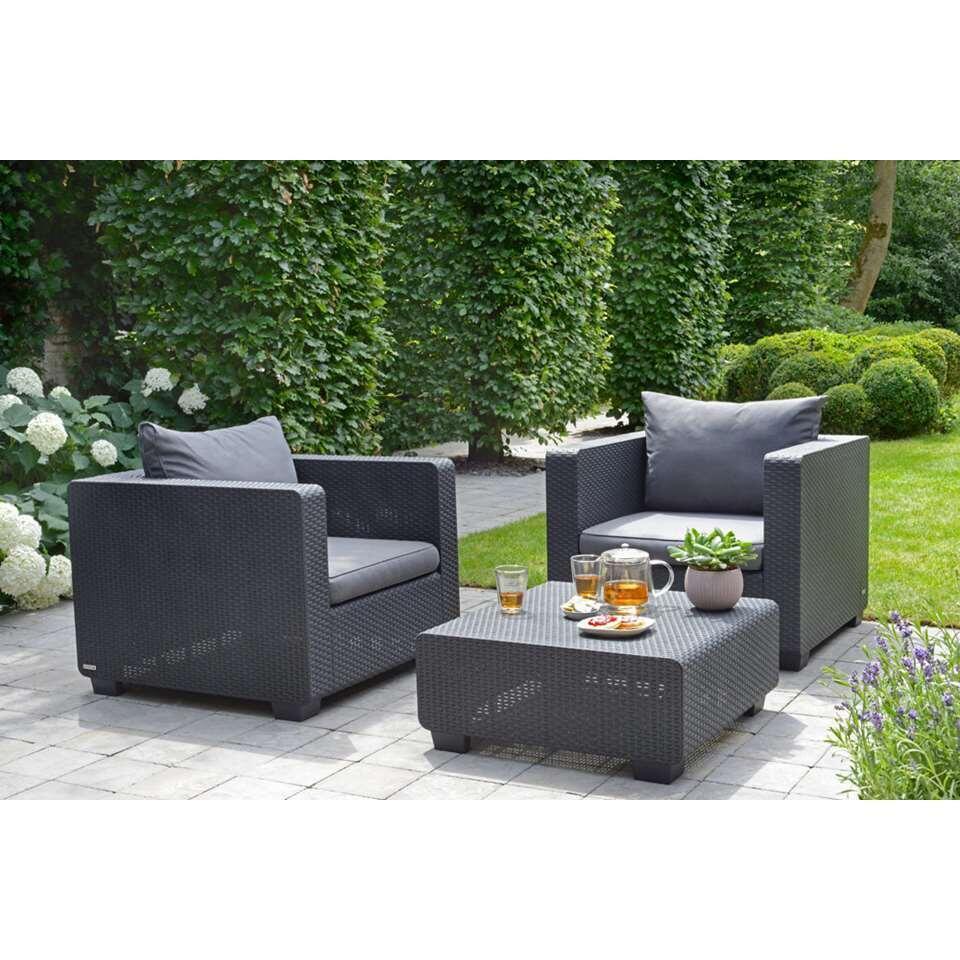Allibert loungestoel Salta - grijs - 81,5x 84x65,5 cm - Leen Bakker
