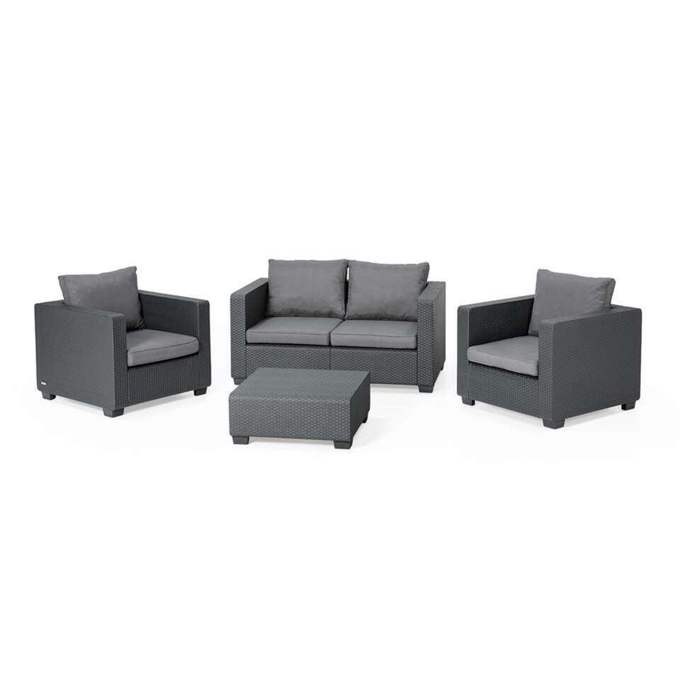 Allibert loungezetel Salta - grijs - 141x84x65,5 cm - Leen Bakker