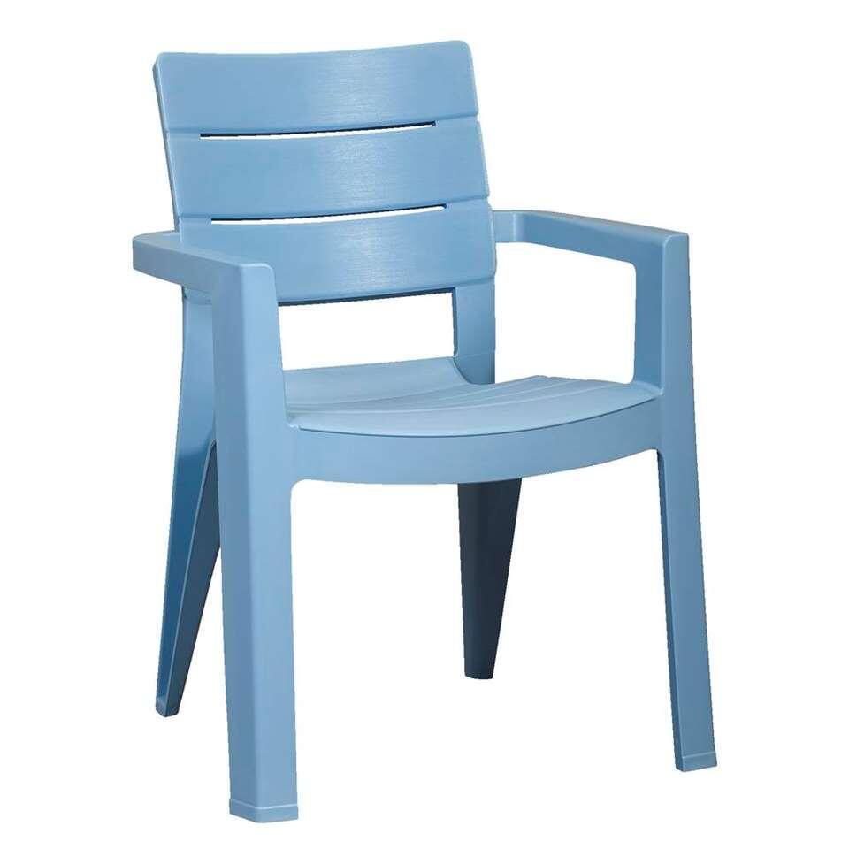 Allibert stapelstoel Ibiza - blauw - Leen Bakker