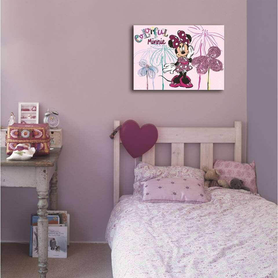Canevas Rose Cm Disney Mouse Tableau Paillette 70x50 En Minnie byf6vY7g